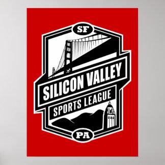 Liga de los deportes de Silicon Valley Póster