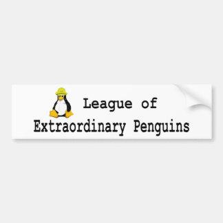Liga de los pingüinos extraordinarios 2 pegatina de parachoque