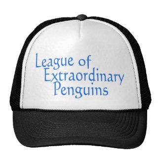 Liga de los pingüinos extraordinarios 3 gorros bordados