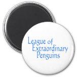 Liga de los pingüinos extraordinarios 3 imanes de nevera