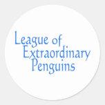 Liga de los pingüinos extraordinarios 3 pegatina redonda