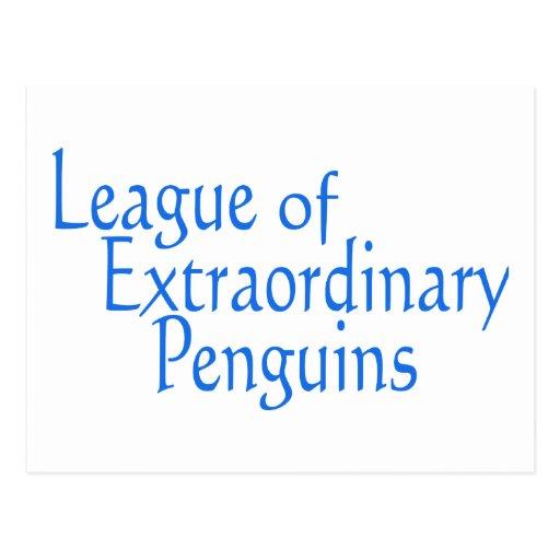 Liga de los pingüinos extraordinarios 3 tarjetas postales