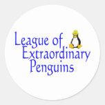 Liga de los pingüinos extraordinarios 4 pegatina redonda