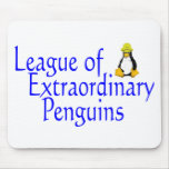 Liga de los pingüinos extraordinarios 4 tapete de raton