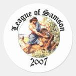 Liga de Samson Etiquetas Redondas