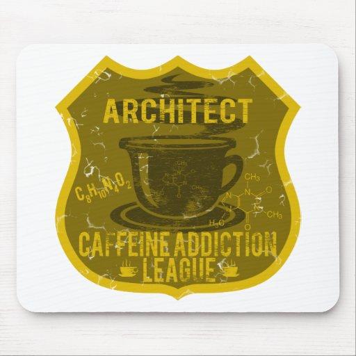 Liga del apego del cafeína del arquitecto alfombrilla de ratones