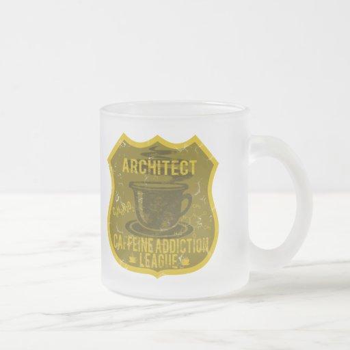 Liga del apego del cafeína del arquitecto taza cristal mate