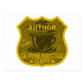 Liga del apego del cafeína del autor postales