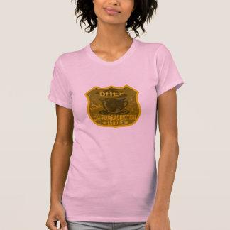 Liga del apego del cafeína del cocinero t-shirts