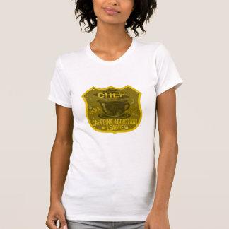 Liga del apego del cafeína del cocinero t shirt