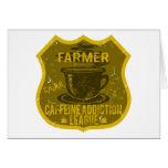 Liga del apego del cafeína del granjero felicitacion