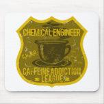 Liga del apego del cafeína del ingeniero químico tapetes de ratón