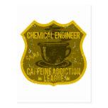Liga del apego del cafeína del ingeniero químico postal