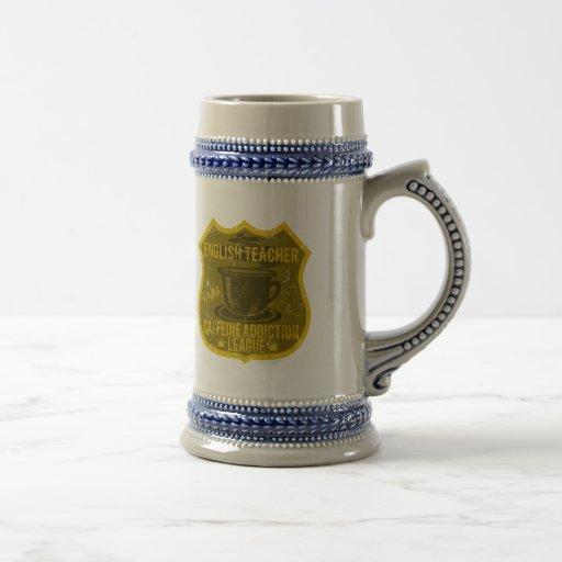 Liga del apego del cafeína del profesor de inglés tazas