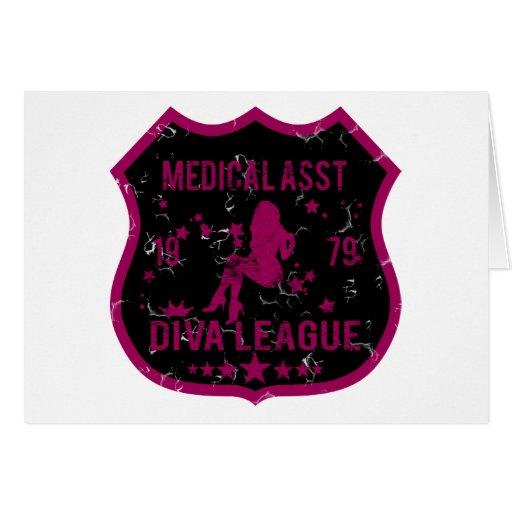 Liga médica de la diva de Asst Tarjeta De Felicitación