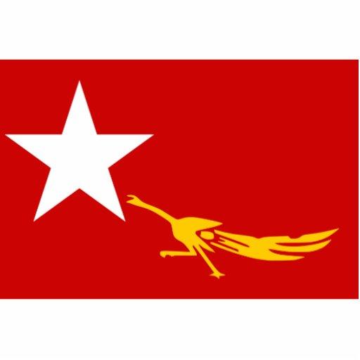 Liga nacional para la democracia, bandera de Myanm Escultura Fotografica