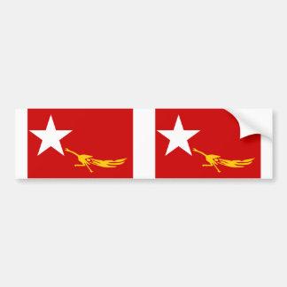 Liga nacional para la democracia, bandera de Myanm Pegatina Para Auto