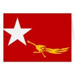 Liga nacional para la democracia, bandera de Myanm Felicitaciones