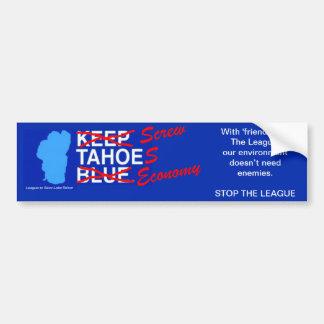 Liga para atornillar la economía de Tahoe Pegatina Para Auto