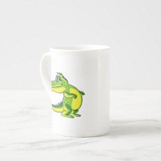 Ligar el cocodrilo taza de porcelana