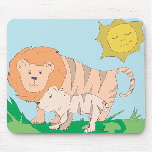 Liger and Cub MousePad