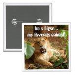 Liger… Mi botón animal preferido Pin
