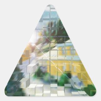 ligero llamándole pegatina triangular