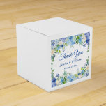 "Ligh Blue Hydrangeas Greenery  Floral Gift Wedding Favor Box<br><div class=""desc"">Say thank you to wedding, birthday, and corporate event guests with customized favor boxes. Make your guests feel special with these one-of-a-kind favor boxes! For further customization, please click the ""customize further"" link and use our design tool to modify this template. If you need help or matching items, please contact...</div>"
