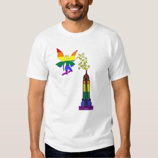 ¡Lighs de hadas gay encima del edificio del estado Polera