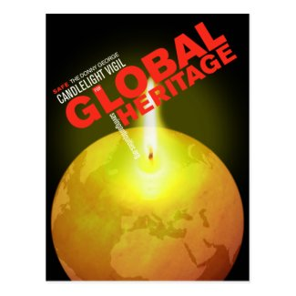 Light a candle for Global Heritage postcard