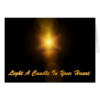 Light A Candle In Your Heart Cards