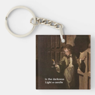 light a candle keychain