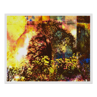 Light Abstract 7: Blessed Life Poster