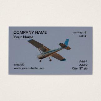 light aircraft on approach business card