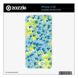 Light Airy Modern Random Abstract Skin For iPhone 4