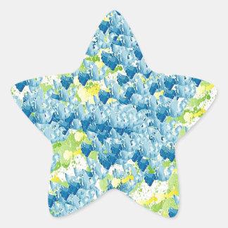 Light Airy Modern Random Abstract Star Sticker