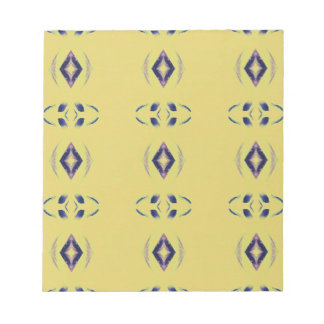 Light &Airy Yellow With Purple Diamond Shapes Notepad