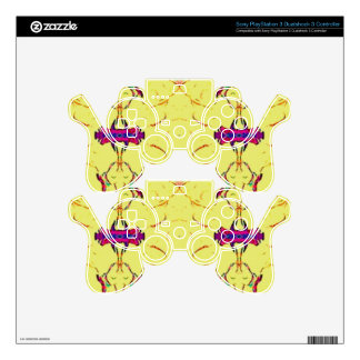 Light and Airy Modern Yellow Pattern. PS3 Controller Decals