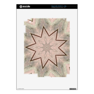 Light and Airy Soft Star Shaped Pattern iPad 2 Decal