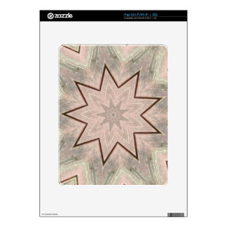 Light and Airy Soft Star Shaped Pattern iPad Skin