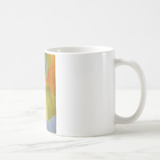 light and bright orange green abstract image coffee mug