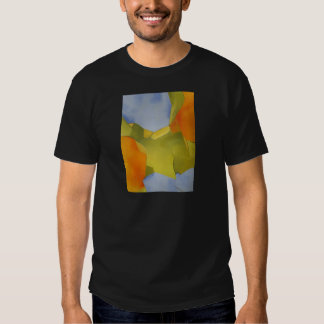 light and bright orange green abstract image t shirt