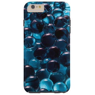 Light and Dark Blue Glass Marbles Tough iPhone 6 Plus Case
