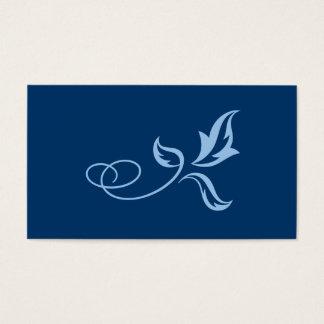 Light and dark blue leaf ornament business card