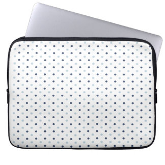 Light and Dark Blue Polka Dots Laptop Sleeve
