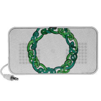 Light and Dark Green Circular Knotwork Speakers