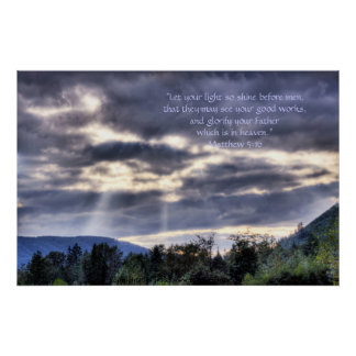Light and Dark HDR Print w/Scripture Verse
