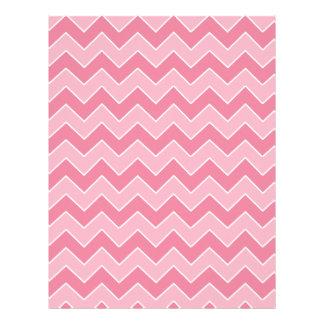 Light and Dark Pink Chevron Pattern Scrapbook Page Letterhead