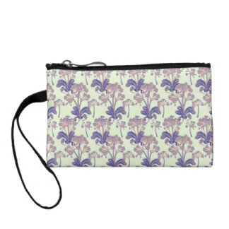 Light and Dark Purple Vintage Floral Coin Purse