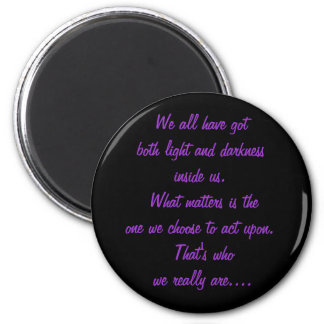 light and darkness 2 inch round magnet